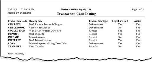AccountMate: Sample Reports