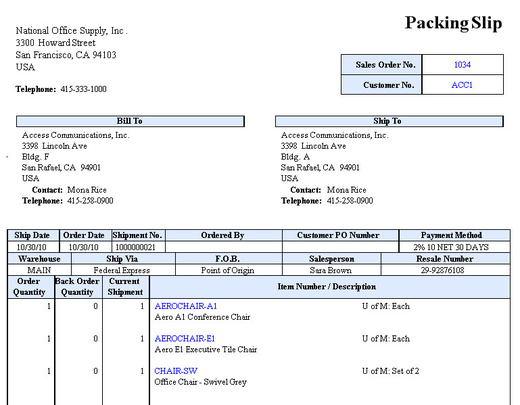 You Can Print A Packing Slip On A Pre Printed Form Or On An Ordinary Paper.  You Can Configure These Settings In The SO Module Setup  U003e Printing Tab.  Packing Slip