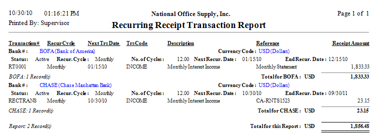 AccountMate Business Management and Accounting Software – Transaction Receipt Template