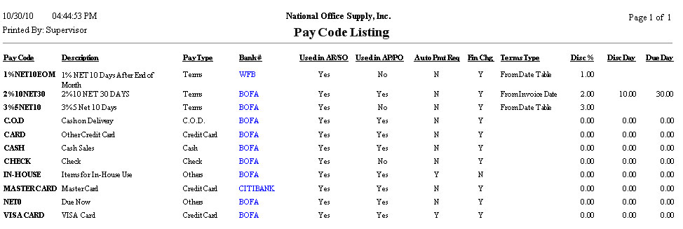 ... following pay code types Cash Check Credit Card C.O.D. Terms and/or Other types. You may also show the Date Table set up for each Terms pay code.  sc 1 st  AccountMate Business Management and Accounting Software - Software ... & AccountMate: Business Management and Accounting Software - Software ...